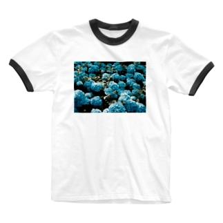 アジサイ Ringer T-shirts