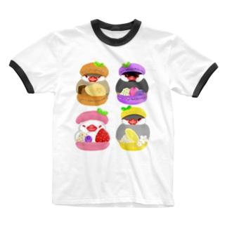 ぎゅっ♪マカロン文鳥ず Ringer T-Shirt