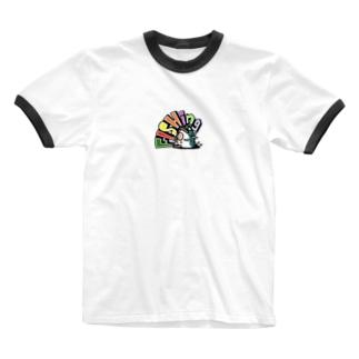 お座りfishing君 Ringer T-Shirt