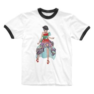 Ericaさま Ringer T-shirts