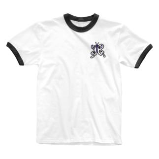 毒あるちょうちょう Ringer T-Shirt