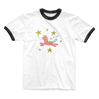 ふちこの上手くいくおうまさん Ringer T-Shirt