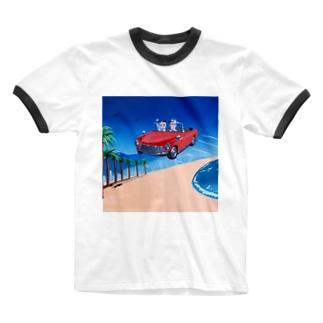 ビーチ Ringer T-Shirt