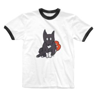 イッヌとリップちゃん。 Ringer T-Shirt