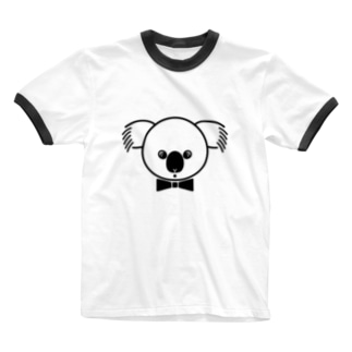 gyunyuyaのコアラ Ringer T-shirts
