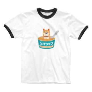 柴クリーム100%のシバアイス Ringer T-shirts