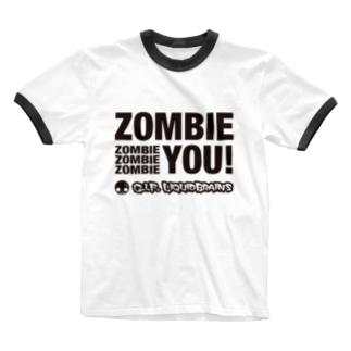 KohsukeのZombie You! (black print) Ringer T-shirts