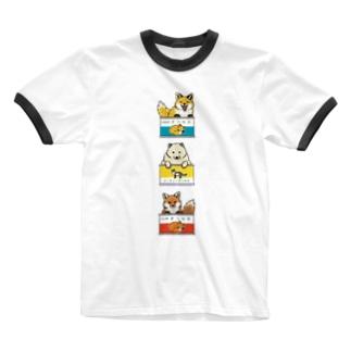 きつね缶 3点セット Ringer T-shirts