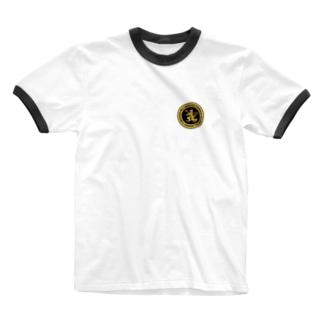 DEVGRU ライオン丸型2(ワンポイント) Ringer T-shirts