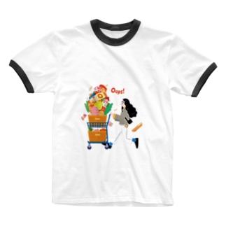 Autumn Shopping(クリア) Ringer T-Shirt