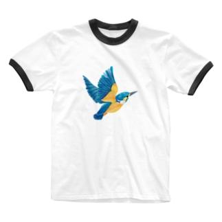 カワセミ Ringer T-shirts