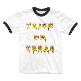 Candy Cone Trick or Treat Ringer T-shirts