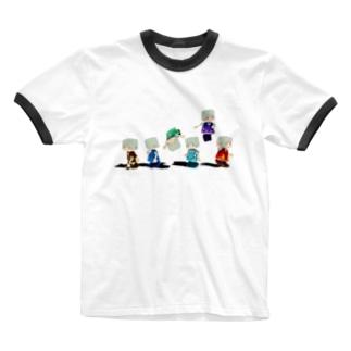 シックスエレメント Ringer T-shirts
