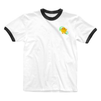ほわピヨちゃん 背景あり② Ringer T-shirts