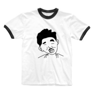 おじさん Ringer T-shirts