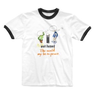 M@SAのworld peace Ringer T-Shirt