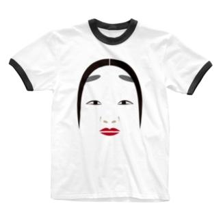 能面 Ringer T-shirts