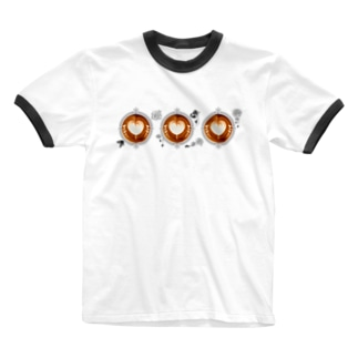 【Lady's sweet coffee】ラテアート メッセージハート / With accessories ~2杯目~ Ringer T-Shirt