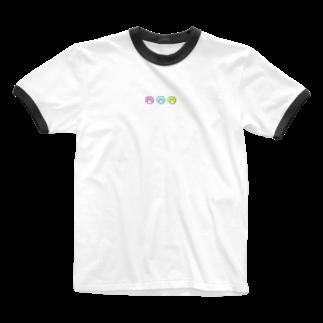 はなまるランドの🌈🍑3つ子のももこちゃん🍑🌈 Ringer T-shirts