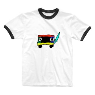 ロボ(剣) Ringer T-shirts
