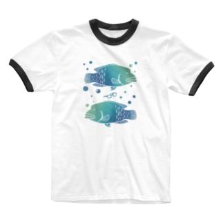 メガネモチノウオ。 Ringer T-shirts