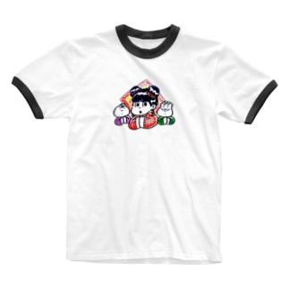 中華トリオ Ringer T-shirts