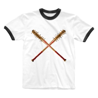 釘バット Ringer T-shirts