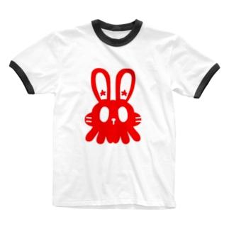 アニマルエイリアン Ringer T-shirts