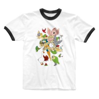 Chubby Bird 「何よりも大切なこと。 それは鳥さんを愛すること。」  Ringer T-shirts