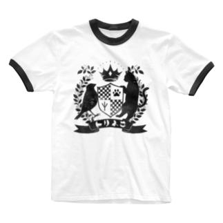 トリネコエンブレム Ringer T-shirts