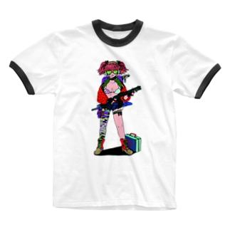 クールガール! Ringer T-shirts