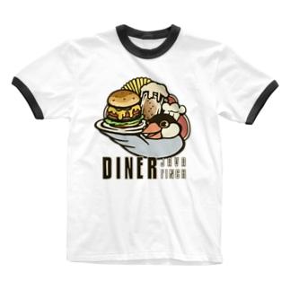 ダイナー・ジャワフィンチ Ringer T-shirts