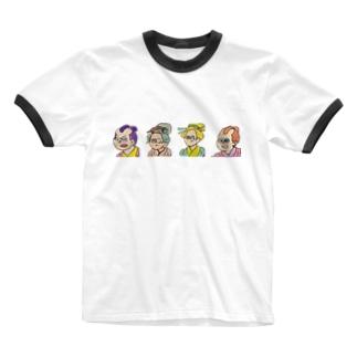 江戸の民 Ringer T-shirts