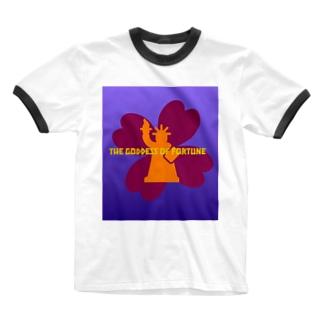 The goddess of fortune Ringer T-shirts