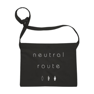 neutral route [White] サコッシュ