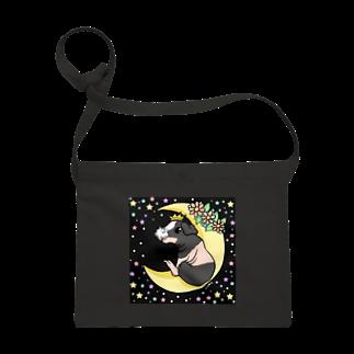 Lichtmuhleの月とモルモット(ゆるかわ×スキニーギニアピッグ) サコッシュ