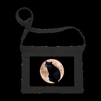 ちばっちょ【ち畳工房&猫ねこパラダイス】の月の黒猫MOON CAT Sacoches