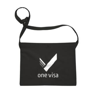 one visa White Logo Sacoches