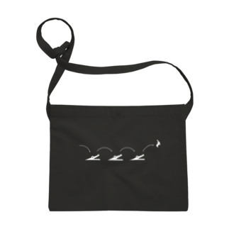 Kazumi Inadaのピクトロゴ・因幡の白兎(黒) Sacoches