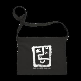 〈サチコヤマサキ〉ショップのKAOロゴ白 Sacoches
