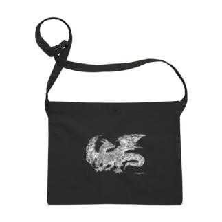 ドラゴン 白 Sacoches