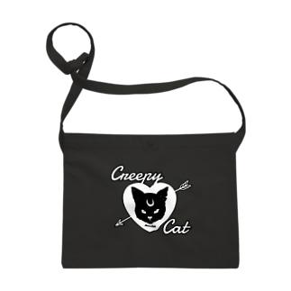 【MOON SIDE】 Creepy Cat #Black Ver.2 Sacoches