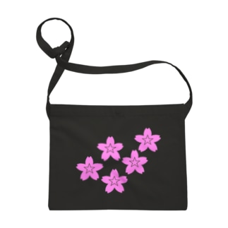 星桜紋(流れ星ピンク) Star cherry blossom Crest (Shooting star pink)) Sacoches
