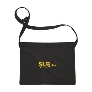 SLP PLUSグッズのサコッシュ SLP PLUSロゴマーク ルブリカモフラージュ/黄 Sacoches