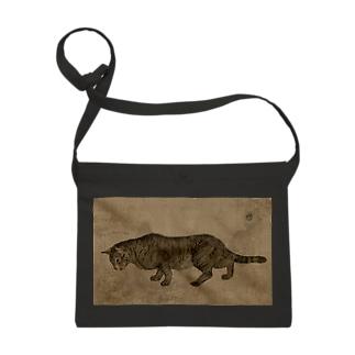 忍び寄る猫の布かばん Sacoches