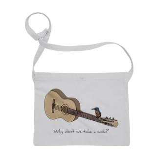アコースティックギターと野鳥(カワセミ) Sacoches