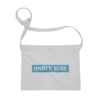 UNDER BLUEボックスロゴ Sacoches