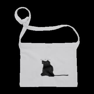 ネコのラクガキの洒落猫(おでぶ化) Sacoches