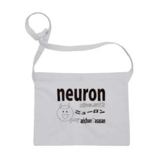 neuron公式 サコッシュ(黒文字) Sacoches