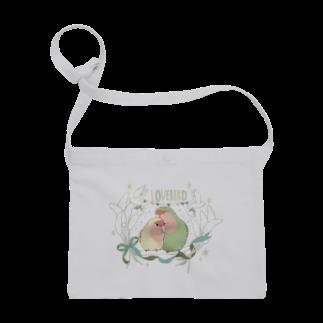 インコグッズ屋の粟の穂とペアコザクラインコ Sacoches